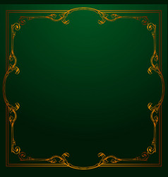 Classical baroque of vintage element vector