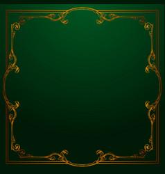 Classical baroque vintage element vector