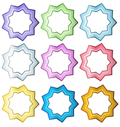 Colorful set of stars vector image