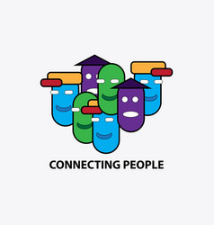 connecting people symbol vector image