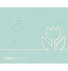 Creative flower Art template vector