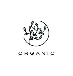 creative plants logo design templatesymbol vector image