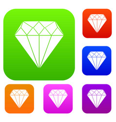 diamond set collection vector image vector image