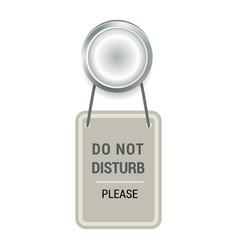 door handle doorknob do not distrub to lock vector image