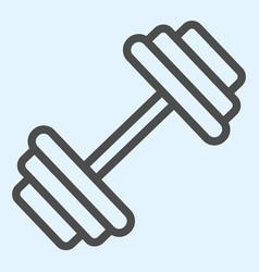 Dumbbells line icon heavy weights barbel sport vector
