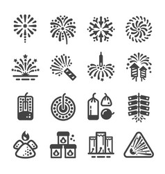 Firework and manufacturing icon vector