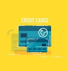 flat design credit card concept vector image