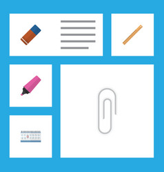 flat icon equipment set of fastener page date vector image