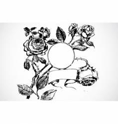 floral banner ornament vector image