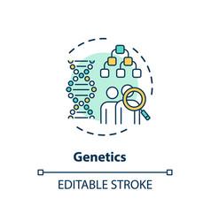 Genetics concept icon vector