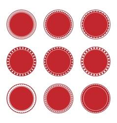 Green Decorative Stamp Set vector image