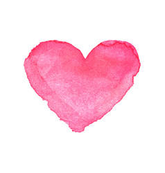 heart icon watercolor painted pink vector image