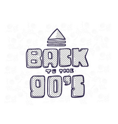 in trendy 80s-90s memphis vector image