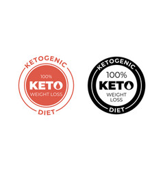 Ketogenic diet icon 100 percent weight loss keto vector