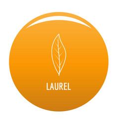 Laurel leaf icon orange vector