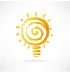 lightbulb icon vector image