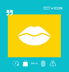 Lips symbol icon vector