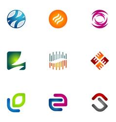 logo design elements set 76 vector image vector image