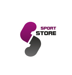 logo for sport store vector image