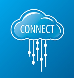 logo rain cloud network vector image