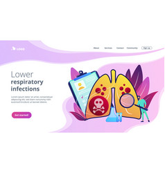 Lower respiratory infections concept landing page vector