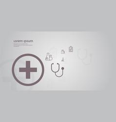 medical icons set medicine healthcare concept copy vector image