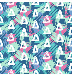 Modern seamless pattern with geometric shapes vector