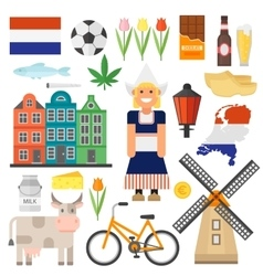 Netherlands set vector