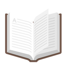 Open book icon textbook for library symbol vector