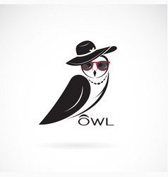 Owl fashion design on white background birds vector
