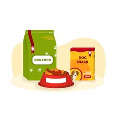 packs various dog food vector image