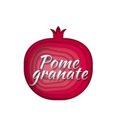 paper art pomegranate vector image