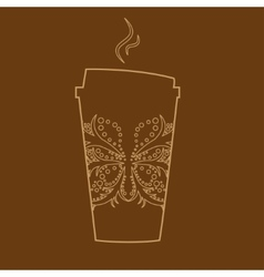 Paper coffee glass vector