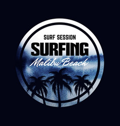 Poster about surfing dark abstract watercolor vector