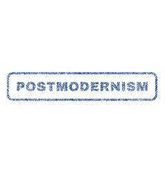 Postmodernism textile stamp vector