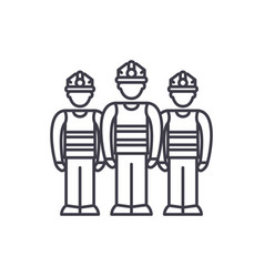 production team line icon concept production team vector image