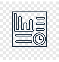 profits concept linear icon isolated on vector image