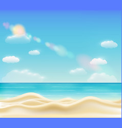 real beautiful bright sea sand beach vector image