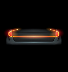 Realistic automotive auto car led glowing vector