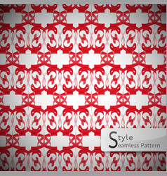 Red mesh geometric seamless pattern vector