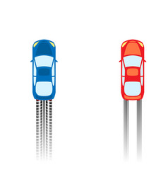 Road with cars vector