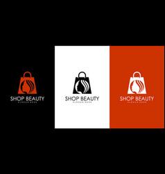shop beauty logo vector image