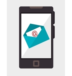 smartphone email mail communication vector image