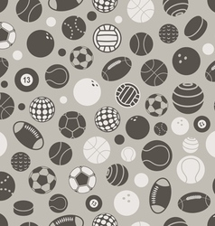 Sport ball silhouettes seamless pattern vector