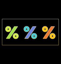 Stylish enamel mosaic percent banner vector