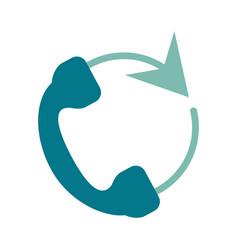 telephone circule flat vector image