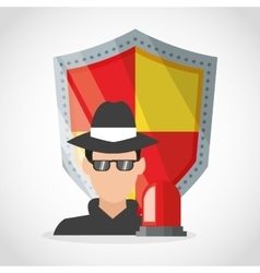 Thief and security system design vector