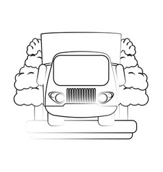 truck frontview icon image vector image