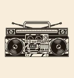 vintage concept ghetto blaster vector image