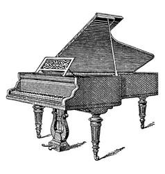 vintage engraving a grand piano vector image
